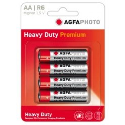 48 batteries AGFA R6 stilo AA 4x1,5v Zinco C. - 12 blister